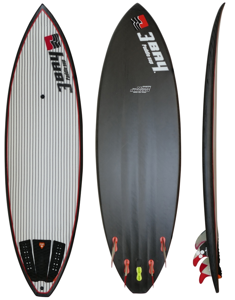 "3 BAY WAVE CARBON 7'3"" LOW"
